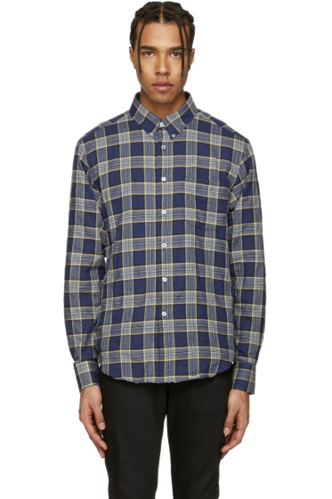 Naked & Famous Denim - Blue Herringbone Buffalo Check Shirt