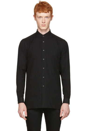 Naked & Famous Denim - Black Long Shirt
