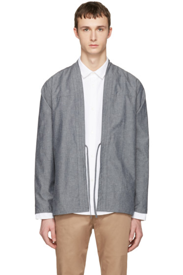 Naked & Famous Denim - SSENSE Exclusive Grey Kimono Shirt