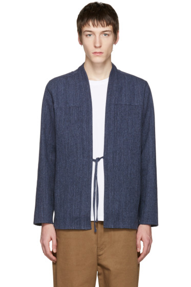 Naked & Famous Denim - SSENSE Exclusive Indigo Kimono Shirt
