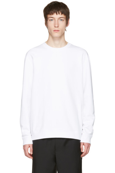 Naked & Famous Denim - White Slim Crewneck Sweatshirt