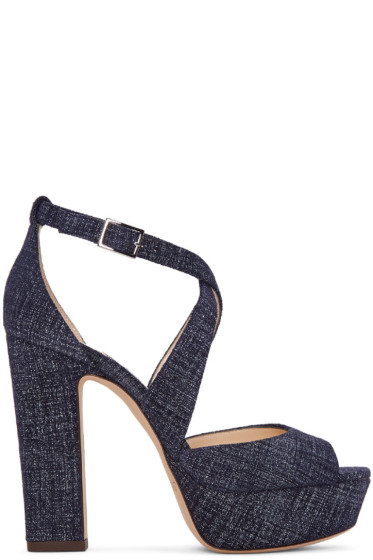 Jimmy Choo - Indigo Denim April Sandals