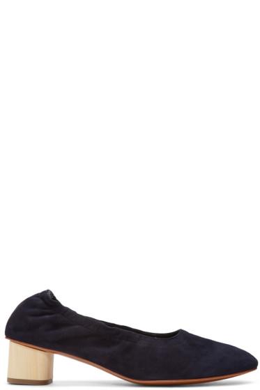 Robert Clergerie - Navy Suede Poket Heels