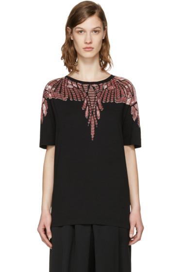 Marcelo Burlon County of Milan - Black Embellished Sofia T-Shirt