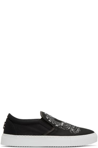 Marcelo Burlon County of Milan - Black Graziana Slip-On Sneakers