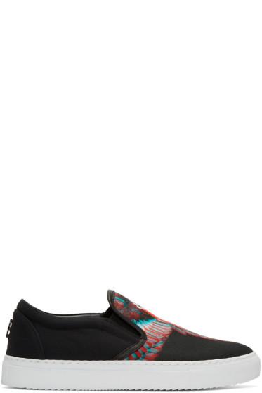 Marcelo Burlon County of Milan - Black Lauren Slip-On Sneakers