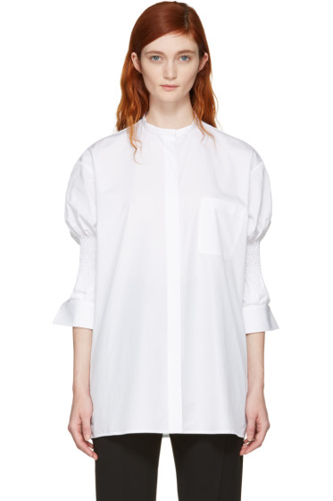 Haider Ackermann - White Smocked Shirt
