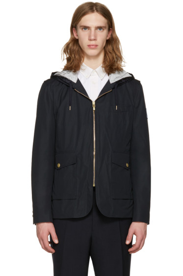 Moncler Gamme Bleu - Navy Down Hooded Jacket