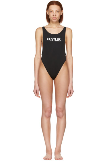 Hood by Air - Black 'Hustler' Swimsuit