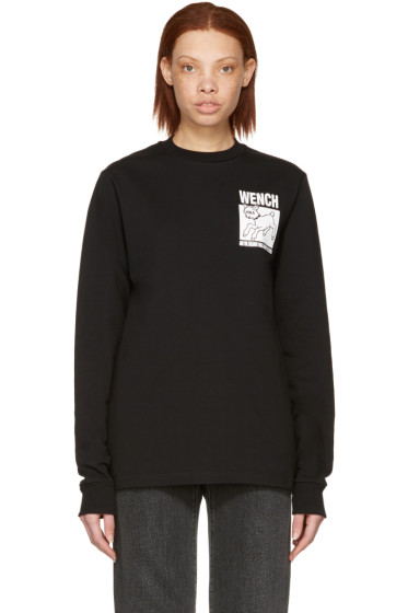 Hood by Air - Black 'Wench' Lamb T-Shirt