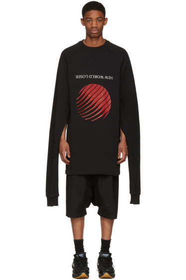 Hood by Air - Black 'New World Loser' Overnight Pullover