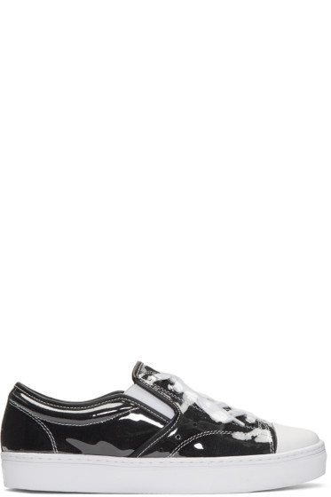 Miharayasuhiro - Black PVC Covered Sneakers