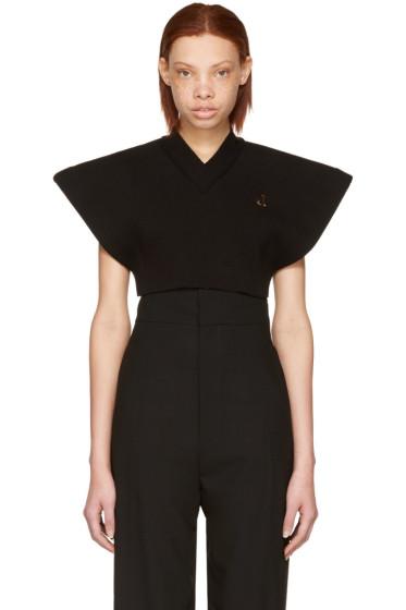 Jacquemus - Black 'Le Petit Gardian' Cropped Sweater