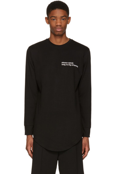 Pyer Moss - Black 'Attorney' T-Shirt