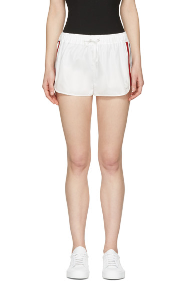 Moncler Gamme Rouge - White Striped Web Shorts