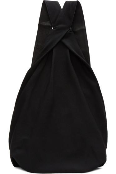 Yohji Yamamoto - ブラック ドレープ バックパック