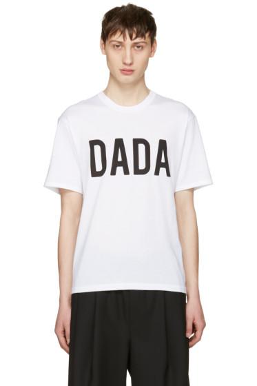 Christian Dada - ホワイト ロゴ T シャツ