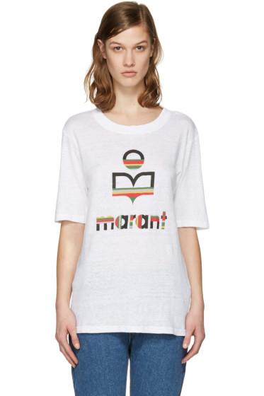 Isabel Marant Etoile - White Kendriwa Logo T-Shirt
