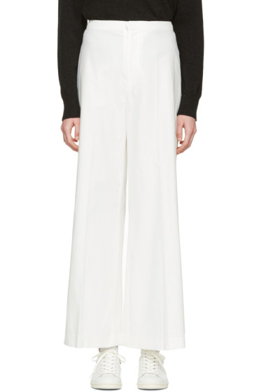 Isabel Marant - White Cotton Spanel Trousers