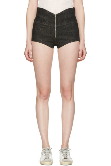 Isabel Marant - Black Denim Everson Shorts
