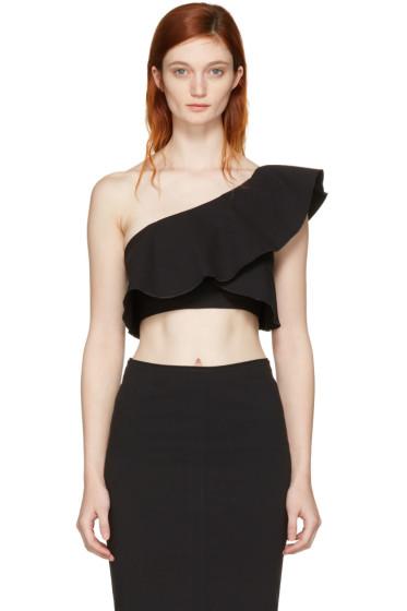 Isabel Marant - Black Hayo Single-Shoulder Crop Top