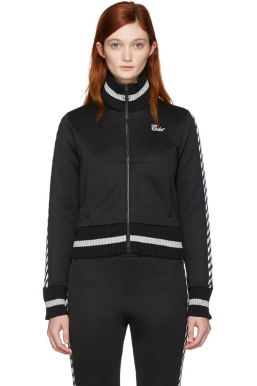 Off-White - Black Diagonal 'Woman' Track Jacket