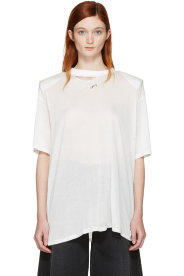 Off-White - White Shoulder Pad T-Shirt