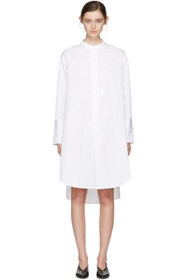 Studio Nicholson - ホワイト ビコ オーバーサイズ シャツ ドレス