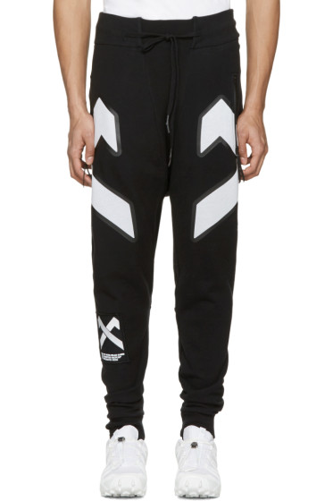 11 by Boris Bidjan Saberi - Black Cross Logo Lounge Pants