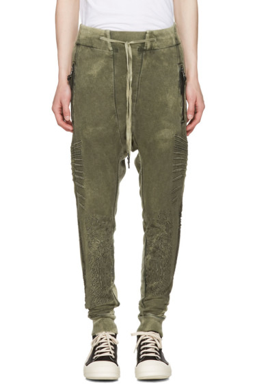11 by Boris Bidjan Saberi - Green Optic Jogging Pants
