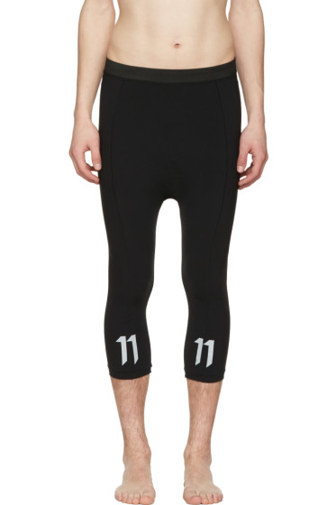 11 by Boris Bidjan Saberi - Black Slim Leggings