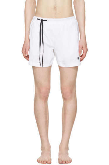 11 by Boris Bidjan Saberi - White Nylon Swim Shorts
