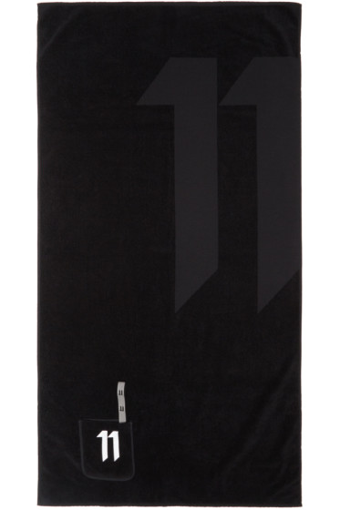 11 by Boris Bidjan Saberi - Black Pocket Logo Towel