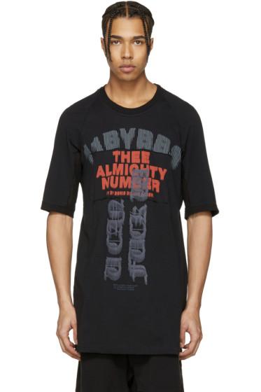 11 by Boris Bidjan Saberi - Black Print Patch T-Shirt