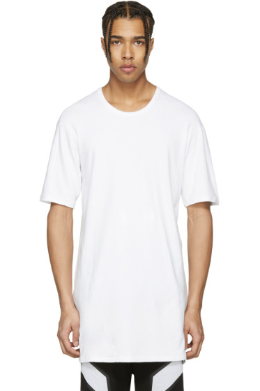 11 by Boris Bidjan Saberi - White Overlong T-Shirt