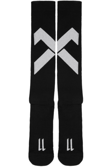 11 by Boris Bidjan Saberi - Black Classic Sport Cross Logo Socks