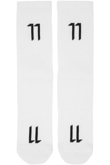 11 by Boris Bidjan Saberi - White Logo Socks