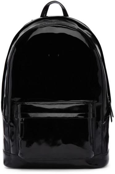 PB 0110 - ブラック パテント レザー CA 6 バックパック