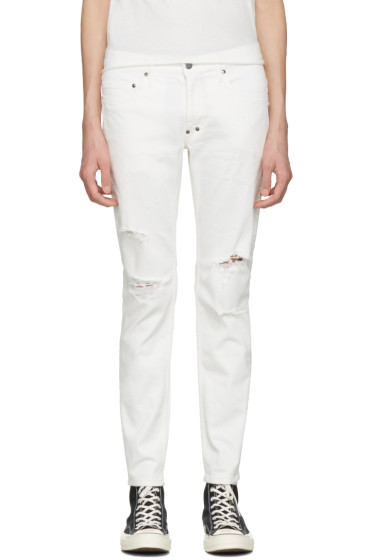 Diet Butcher Slim Skin - White Damaged Skinny Jeans