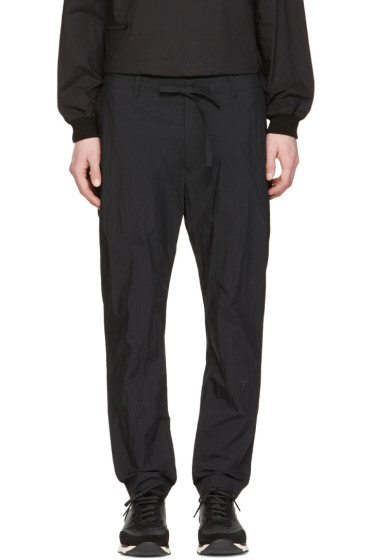 Undecorated Man - Black Slim Drawstring Trousers