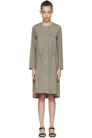 Nomia - トープ スナップ フロント ドレス