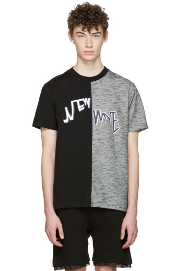D by D - Black 'New Wave' Split T-Shirt