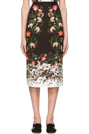 Erdem - Black Maria Convertine Rose Skirt
