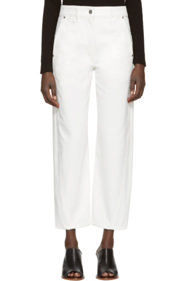Lemaire - White Denim Twisted Trousers