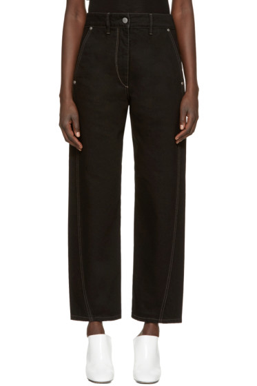 Lemaire - Black Denim Twisted Trousers