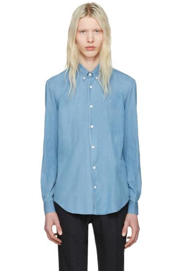 Etudes - ブルー インフォ ストーン シャツ