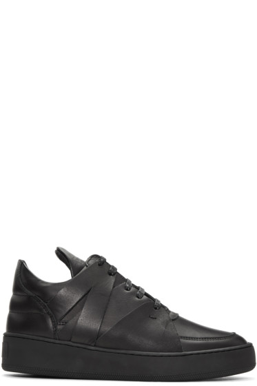 Filling Pieces - Black Augusta Sneakers