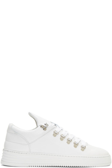 Filling Pieces - White Mountain Cut Stripe Sneakers