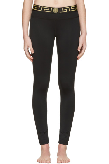 Versace Underwear - Black Medusa Leggings