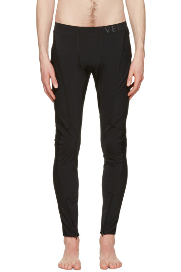 Versace Underwear - Black Panelled Leggings